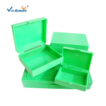 Green Microscope Slide Storage Box