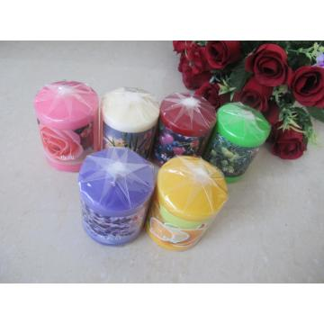 Scented Colored Pillar Candle
