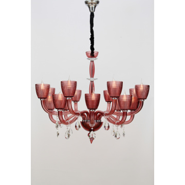 Modern Living Room Customized Delicate Wine Red Chandelier