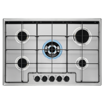 Zanussi Built-in Cooktops on Stainless Steel Hob