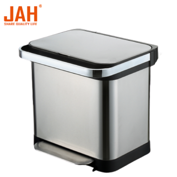 JAH Steel Metal Household Sortable Pedal Garbage Bin