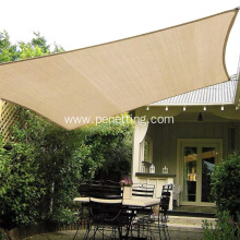 HDPE Beige sun shade net for car parking