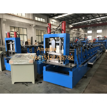 Steel roof purlin roll forming machine