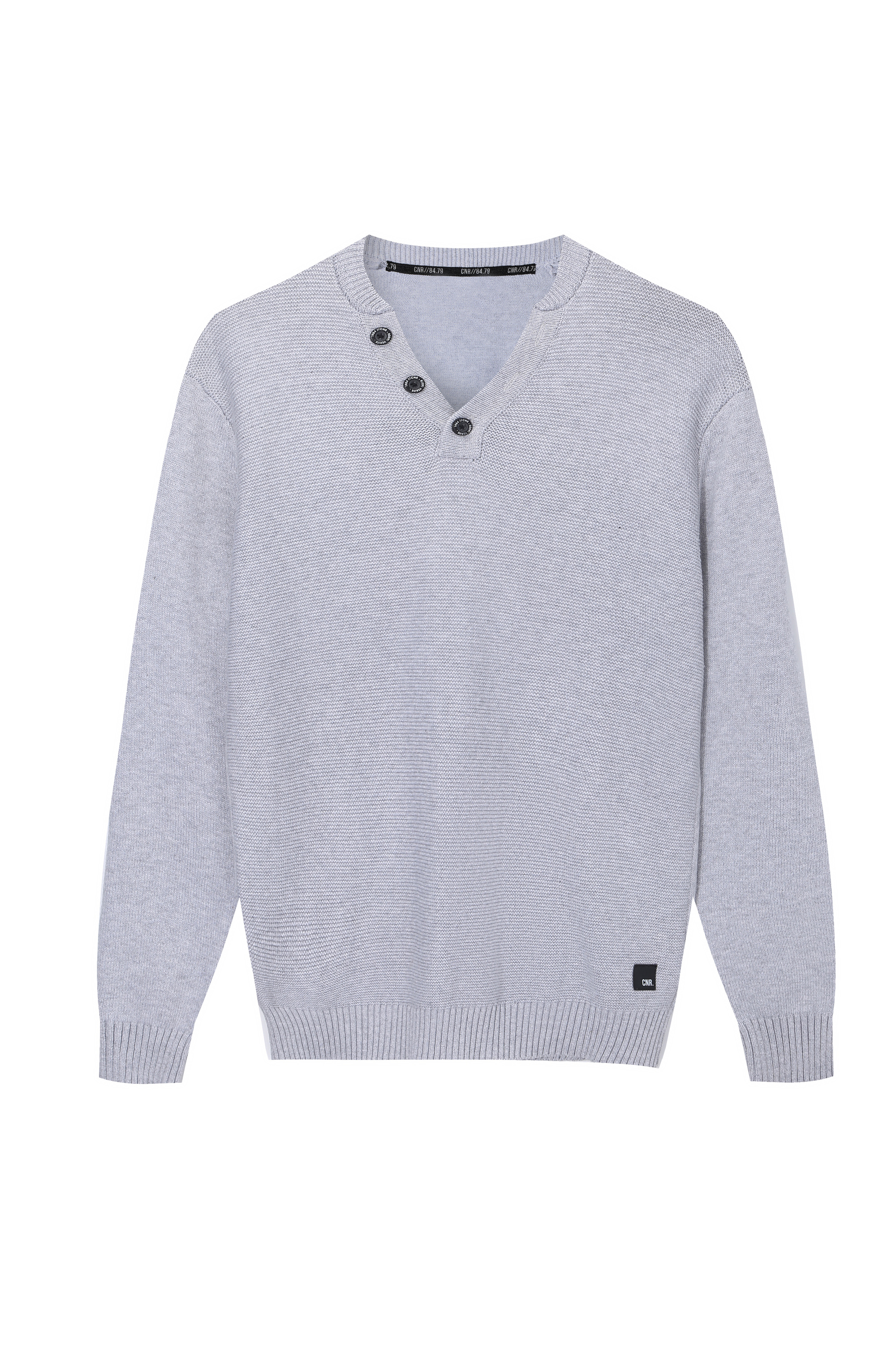 Men's Knitted Henley button neck Sweater