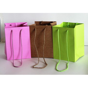 Paper Bag Flowers Square Bottom Gift Bag