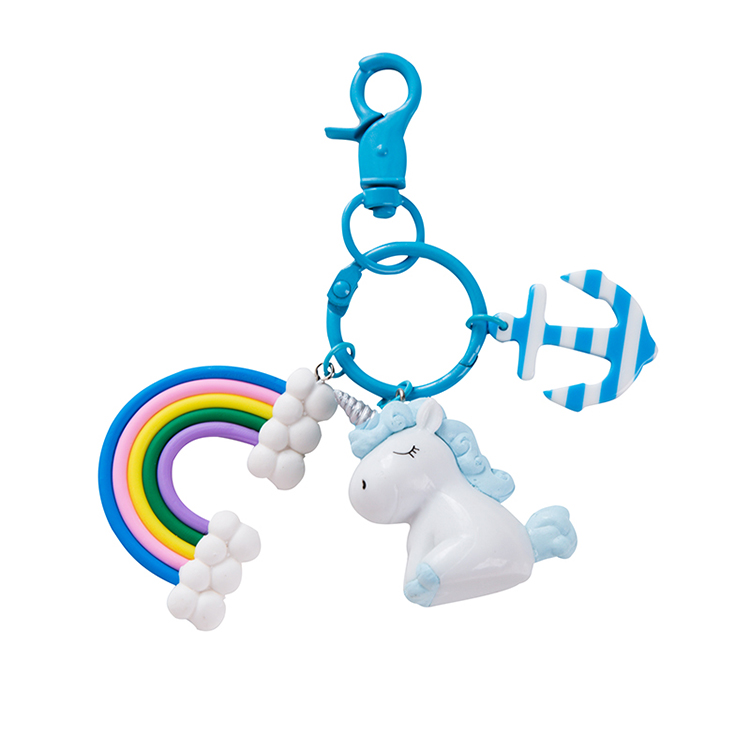 Unicorn Rainbow Keychain 1
