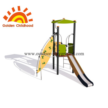 climb and slide playset climbing rope