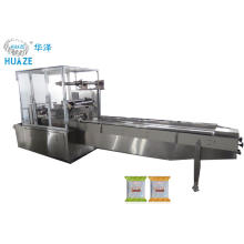 Horizontal automatic biscuit/cake/bread flow packing machine