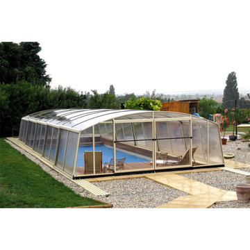 PC Roof Cover Retractable Swimming Pool Enclosure