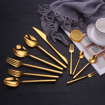 Stainless Steel Hotel Cutlery Gold For Events