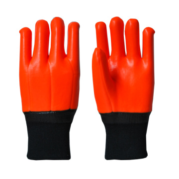 Better Grip orange PVC Glove Knit Wrist
