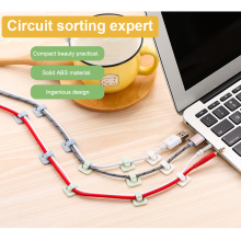18 Pcs Fixing Clip Desktop Wall Wire Fixing Self-adhesive Wire Clip Steel Wire Mesh Wire Finishing Clip Wire Management Device