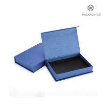 Custom magnet blue drop front gift box