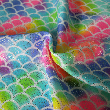 Not Easily Faded Spandex Fish Scale Print Fabric