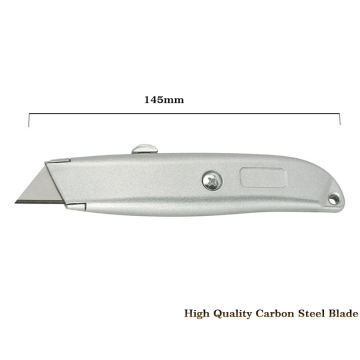 Retractable Box Cutter with Heavy Duty Aluminum Shell
