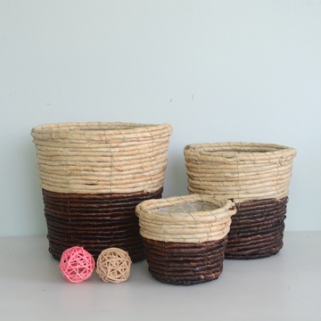 maize rope handicraft collecting basket