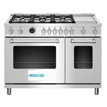 48 inch Dual Fuel Range Electric Self-Clean Oven