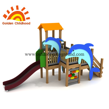 Dolphin Combination Outdoor Playground Equipment For Sale
