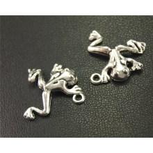 35pcs Silver Color Frog Charm Pendant DIY Necklace Bracelet Bangle Findings 18mm A1919