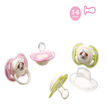 Safety Round Dual Color Nipple Infant Silicone Pacifier