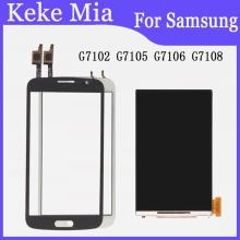 """5.25"""" Mobile Phone LCDs For Samsung Galaxy Grand 2 G7102 G7105 G7106 G7108 LCD Display + Touch Screen Digitizer Glass Sensor"""