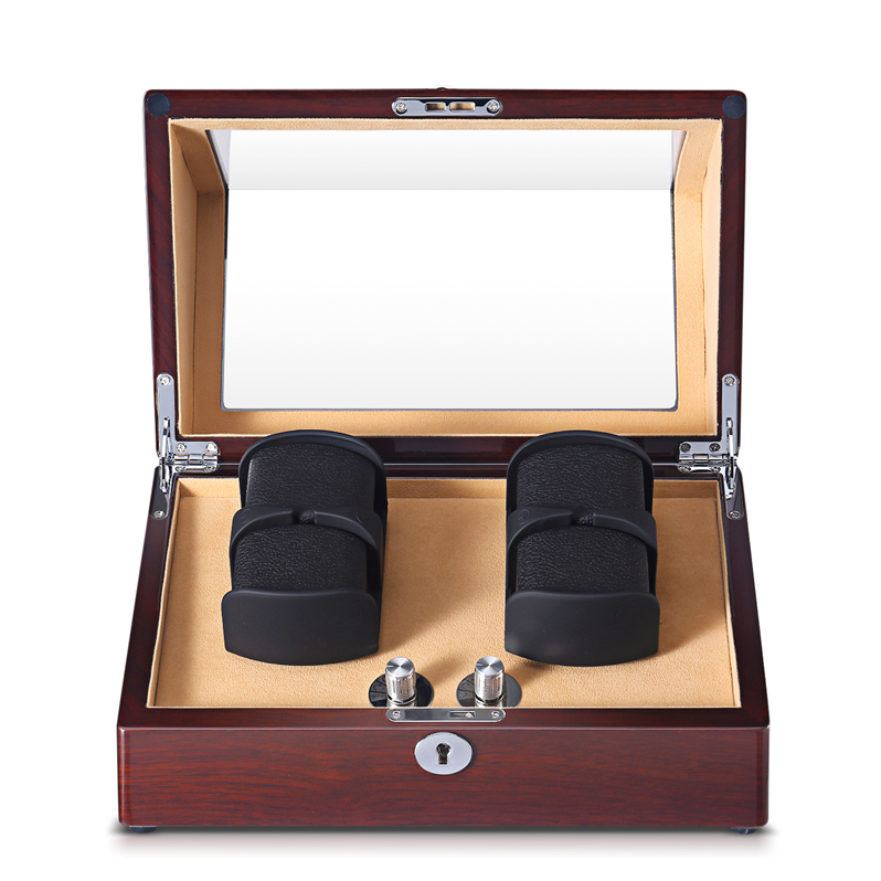 leather watch winder display