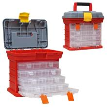 4 Layer Fishing Tackle Portable Toolbox Outdoor Tool Case Screw Hardware Plastic Storage tool Box with Handle