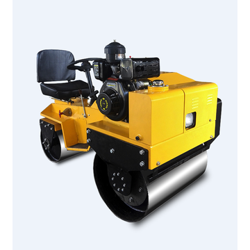 Low price double steel wheel road roller