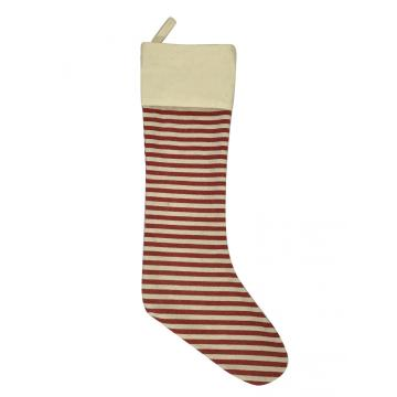 2020 red Striped Christmas stocking