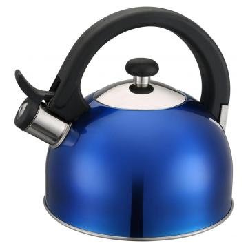 Painting Blue Stainless Steel Whistling Kettle