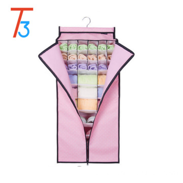Foldable hanging underwear sock closet organizer
