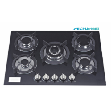 5 Burners Built In Glass Gas Cooktop