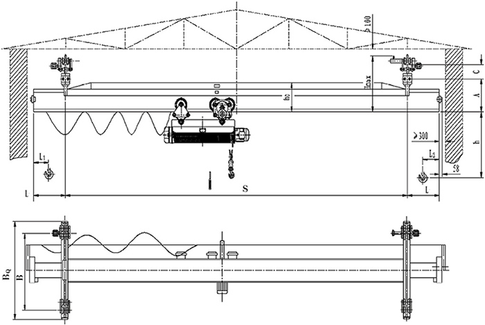 single beam suspension overhead crane
