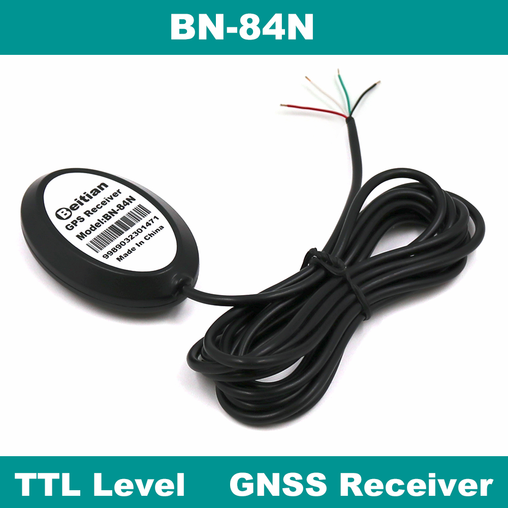 BEITIAN New 4 Cable DIY M8030-KT Magnetic Bottom Waterproof IP67 Ubx M8030-KT 1Hz GNSS GLONASS GPS Receiver TTL level BN-84N