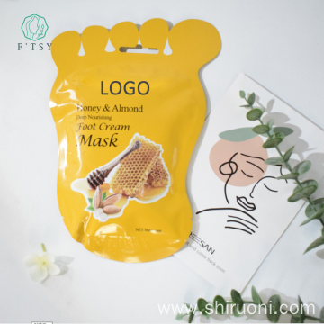 Honey Almond Exfoliating Whitening Foot Cream Mask