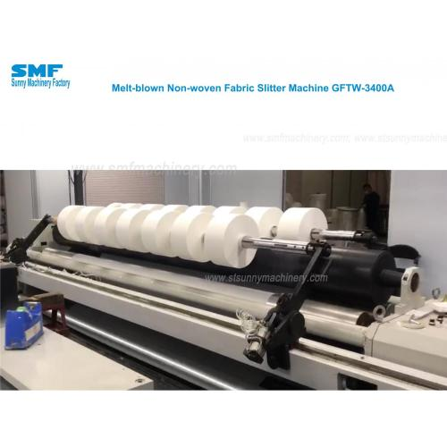 Fask mask nonwoven material slitter rewinder