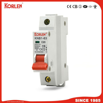 new type mini circuit breaker 1A-63A 6KA