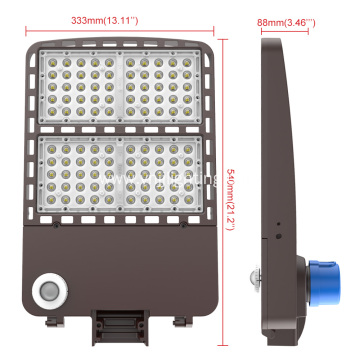 100W LED Parking Lot Lighting Shoebox Fixture