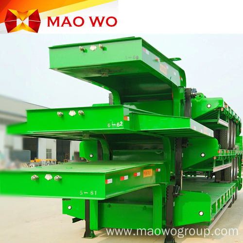 High Quality Chassis Tri-axle Low Bed Semi Trailer