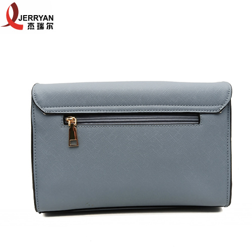 New Arrival Blue Big Leather Satchel Sling Bag