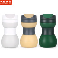FDA Silicone Foldable Drinking Coffee Cup With Cover