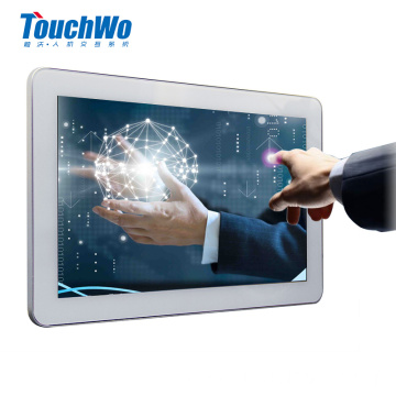 White 10.1 capacitive touchscreen monitor