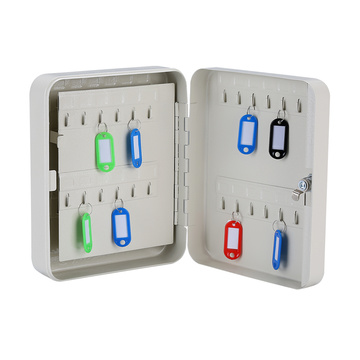Steel Modern Office Security Key Cabinet with Hooks