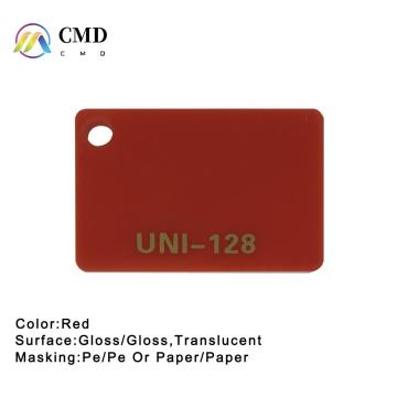 Cast Acrylic sheets Red 50% Translucent