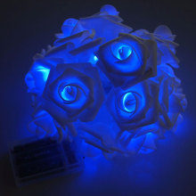 Festival Hiasan Blue Led Rose Flower Light