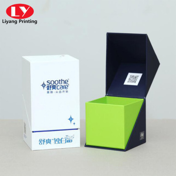 New design toothpaste packaging box with velvet insert