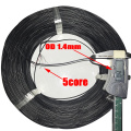 2core 3core 4core 5core Enameled Wire Insulated Cable Superfine Glass Fiber Headphone Wire Out Diameter 1.4mm PVC Signal cable