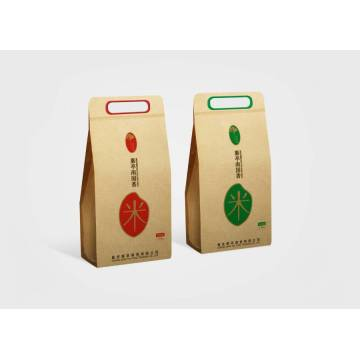 Kraft Paper Pouch For Rice Packaging