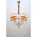 New Modern Elegant Living Room White Glass Chandelier