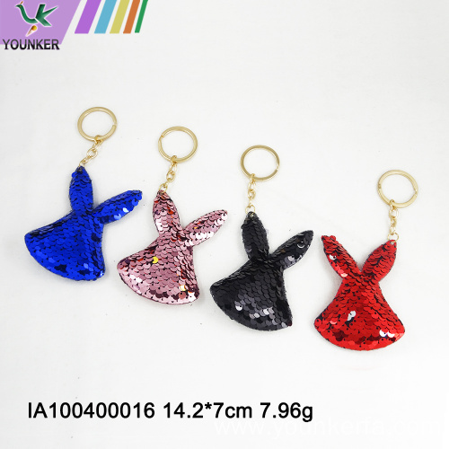 Sequined turtle key chain bag pendant